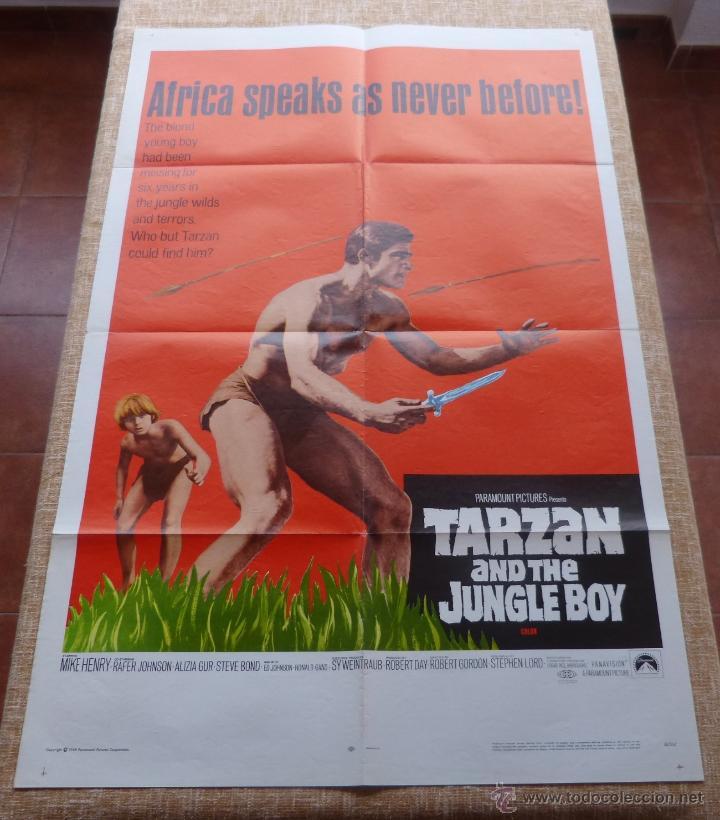 TARZAN AND THE JUNGLE BOY PÓSTER ORIGINAL DE LA PELÍCULA, ORIGINAL, DOBLADO, AÑO 1968, HECHO EN USA (Cine - Posters y Carteles - Acción)