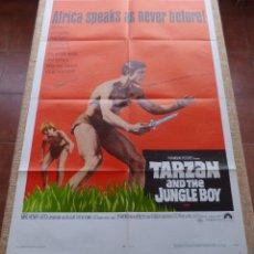 Cine: TARZAN AND THE JUNGLE BOY PÓSTER ORIGINAL DE LA PELÍCULA, ORIGINAL, DOBLADO, AÑO 1968, HECHO EN USA. Lote 44133534