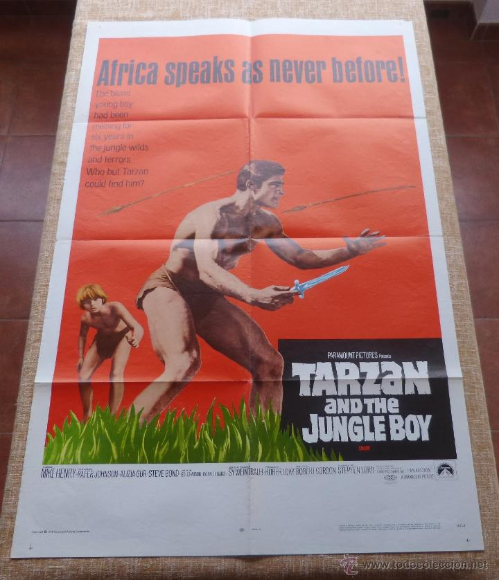 Cine: Tarzan and the Jungle Boy Póster original de la película, Original, Doblado, año 1968, Hecho en USA - Foto 2 - 44133534