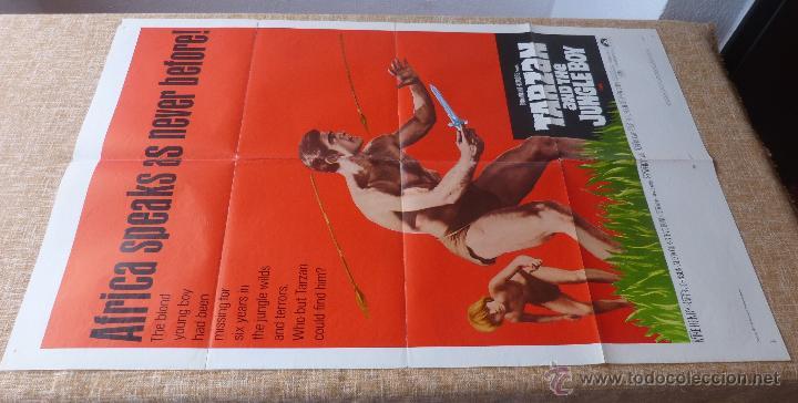 Cine: Tarzan and the Jungle Boy Póster original de la película, Original, Doblado, año 1968, Hecho en USA - Foto 3 - 44133534