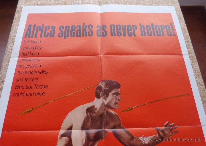 Cine: Tarzan and the Jungle Boy Póster original de la película, Original, Doblado, año 1968, Hecho en USA - Foto 4 - 44133534