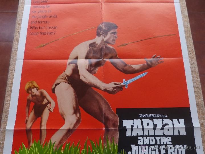 Cine: Tarzan and the Jungle Boy Póster original de la película, Original, Doblado, año 1968, Hecho en USA - Foto 5 - 44133534