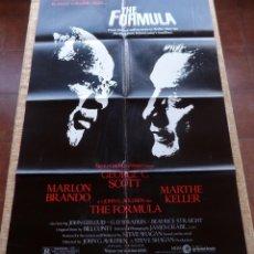 Cine: THE FORMULA PÓSTER ORIGINAL DE LA PELÍCULA, ORIGINAL, DOBLADO, AÑO 1980, HECHO EN U.S.A.. Lote 44154490