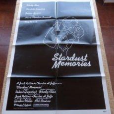 Cine: STARDUST MEMORIES PÓSTER ORIGINAL DE LA PELÍCULA, ORIGINAL, DOBLADO, AÑO 1980, HECHO EN U.S.A.. Lote 44154808