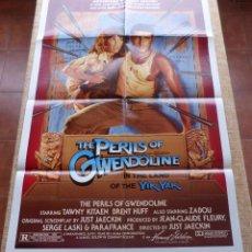 Cine: GWENDOLINE PÓSTER ORIGINAL DE LA PELÍCULA, ORIGINAL, DOBLADO, AÑO 1984, TÍTULO ALTERNATIVO, U.S.A.. Lote 44154949