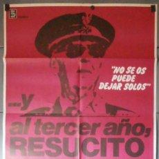 Cine: ... Y AL TERCER AÑO RESUCITÓ., CARTEL DE CINE ORIGINAL 70X100 APROX (11598). Lote 44169049