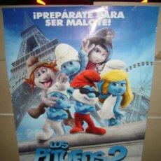 Cine: LOS PITUFOS 2 POSTER ORIGINAL 70X100. Lote 44207682