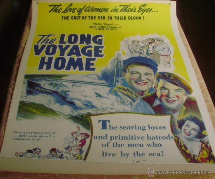 LONG VOYAGE HOME PÓSTER DE LINO ORIGINAL DE LA PELÍCULA, ENROLLADO, REPRODUCCIÓN DE 1940, U.S.A. (Cine- Posters y Carteles - Drama)