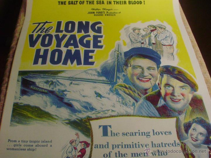 Cine: Long Voyage Home Póster de lino original de la película, Enrollado, reproducción de 1940, U.S.A. - Foto 3 - 44278355