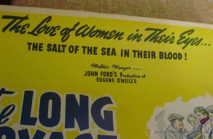 Cine: Long Voyage Home Póster de lino original de la película, Enrollado, reproducción de 1940, U.S.A. - Foto 8 - 44278355