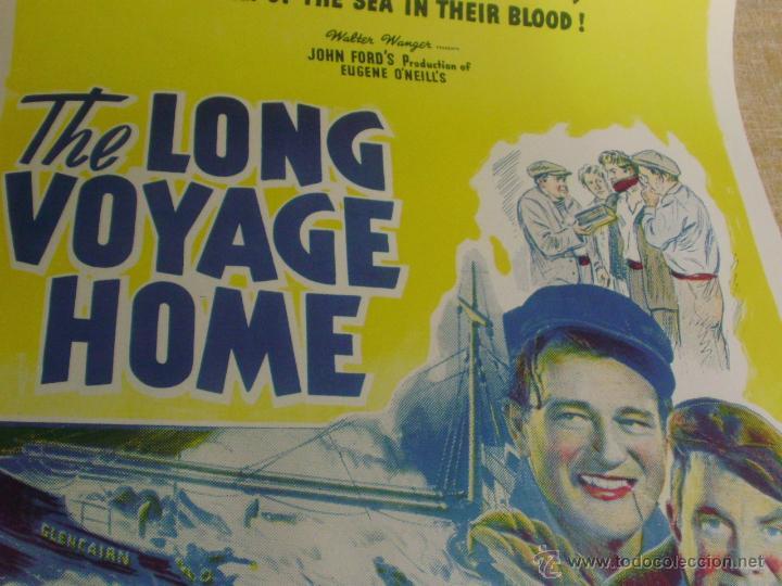 Cine: Long Voyage Home Póster de lino original de la película, Enrollado, reproducción de 1940, U.S.A. - Foto 9 - 44278355