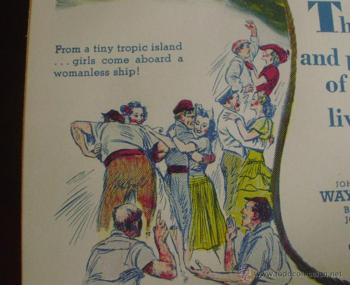 Cine: Long Voyage Home Póster de lino original de la película, Enrollado, reproducción de 1940, U.S.A. - Foto 10 - 44278355