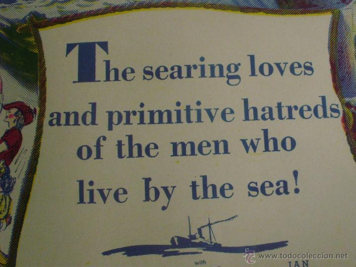Cine: Long Voyage Home Póster de lino original de la película, Enrollado, reproducción de 1940, U.S.A. - Foto 11 - 44278355