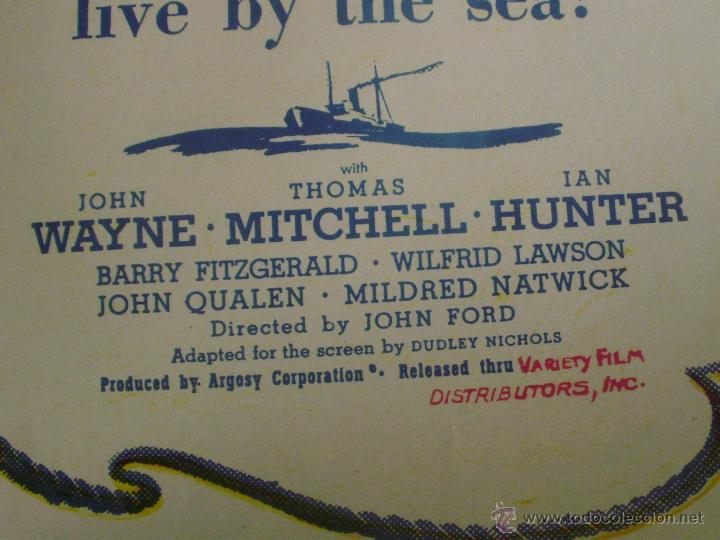Cine: Long Voyage Home Póster de lino original de la película, Enrollado, reproducción de 1940, U.S.A. - Foto 12 - 44278355