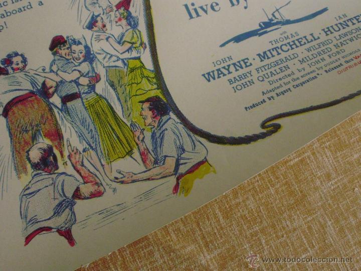 Cine: Long Voyage Home Póster de lino original de la película, Enrollado, reproducción de 1940, U.S.A. - Foto 13 - 44278355