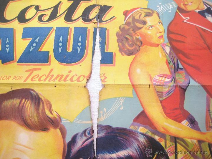 Cine: CARTEL POSTER ORIGINAL *EN LA COSTA AZUL* DANNY KAYE GENE TIERNEY. SOLIGÓ - Foto 2 - 44345666