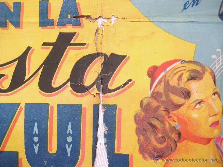 Cine: CARTEL POSTER ORIGINAL *EN LA COSTA AZUL* DANNY KAYE GENE TIERNEY. SOLIGÓ - Foto 4 - 44345666