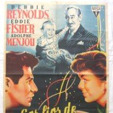 Cine: CARTEL POSTER ORIGINAL *LOS LIOS DE SUSANA* DEBBIE REYNOLDS EDDIE FISHER. Lote 44345791