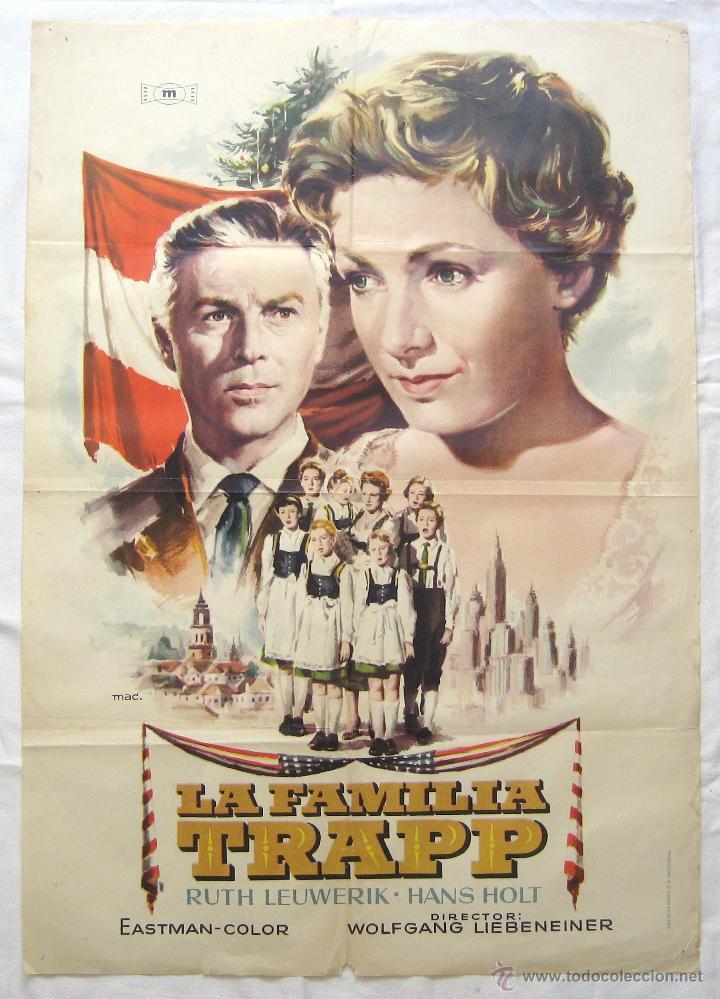 CARTEL POSTER ORIGINAL *LA FAMILIA TRAPP* RUTH LEWERIK HANS HOLT (Cine- Posters y Carteles - Drama)
