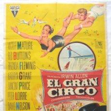 Cine: CARTEL POSTER ORIGINAL *EL GRAN CIRCO* VICTOR MATURE VINCENT PRICE PETER LORRE. SOLIGÓ. Lote 44345923