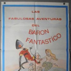 Cine: (11933)LAS FABULOSAS AVENTURAS DEL BARÓN FANTÁSTICO, CARTEL DE CINE ORIGINAL 70X100 APROX,CONSERVACI. Lote 44368420