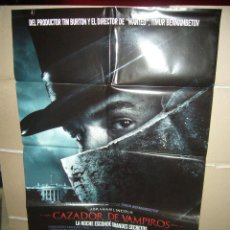 Cine: ABRAHAM LINCOLN CAZADOR DE VAMPIROS POSTER ORIGINAL 70X100 Q. Lote 218169933