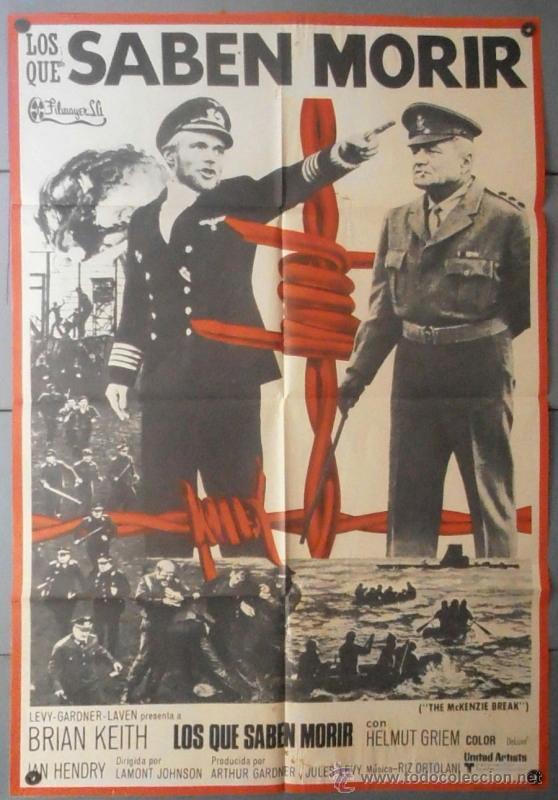 (11952)LOS QUE SABEN MORIR, CARTEL DE CINE ORIGINAL 70X100 APROX,CONSERVACION:VER FOTO (Cine - Posters y Carteles - Bélicas)