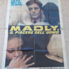 Cine: THE LOVE MATES PÓSTER ORIGINAL ITALIANO DE LA PELÍCULA, ORIGINAL, DOBLADO, AÑO 1971, ALAIN DELON. Lote 44423277