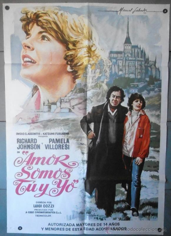 (12179)AMOR SOMOS TÚ Y YO, CARTEL DE CINE ORIGINAL 70X100 APROX,CONSERVACION:VER FOTO (Cine- Posters y Carteles - Drama)