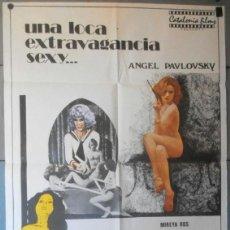 Cine: (12251)UNA LOCA EXTRAVAGANCIA SEXY..., CARTEL DE CINE ORIGINAL 70X100 APROX,CONSERVACION:VER FOTO . Lote 44437121