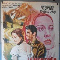 Cine: (12284)LA MONTAÑA REBELDE, CARTEL DE CINE ORIGINAL 70X100 APROX,CONSERVACION:VER FOTO . Lote 44441433