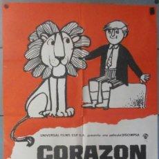 Cine: (12298)CORAZÓN DE LEÓN, CARTEL DE CINE ORIGINAL 70X100 APROX,CONSERVACION:VER FOTO . Lote 44441637