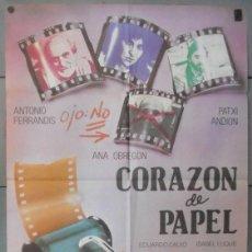 Cine: (12343)CORAZÓN DE PAPEL, CARTEL DE CINE ORIGINAL 70X100 APROX,CONSERVACION:VER FOTO . Lote 44442207
