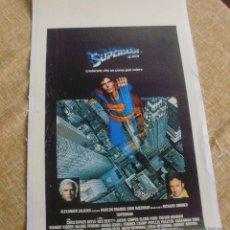 Cine: SUPERMAN PÓSTER DE LINO ITALIANO ORIGINAL DE LA PELÍCULA, ORIGINAL, ITALIANO, DE LINO, ENROLLADO. Lote 44443488