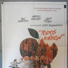 Cine: (12352)TODOS RIERON, CARTEL DE CINE ORIGINAL 70X100 APROX,CONSERVACION:VER FOTO . Lote 44444304