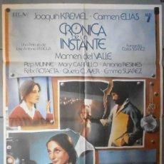 Cine: (12395)CRÓNICA DE UN INSTANTE, CARTEL DE CINE ORIGINAL 70X100 APROX,CONSERVACION:VER FOTO . Lote 44445746