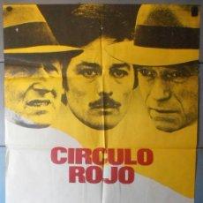Cinema: (12466)CÍRCULO ROJO, CARTEL DE CINE ORIGINAL 70X100 APROX,CONSERVACION:VER FOTO. Lote 252888225