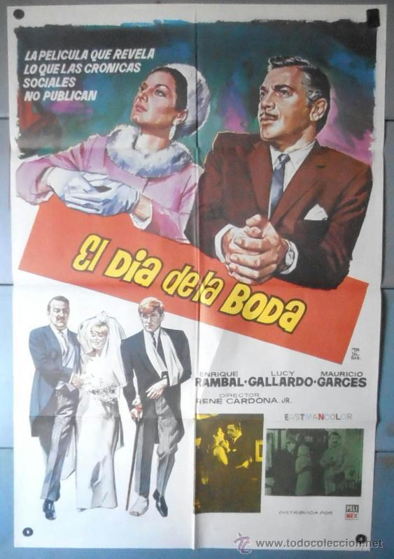 (12472)EL DÍA DE LA BODA, CARTEL DE CINE ORIGINAL 70X100 APROX,CONSERVACION:VER FOTO (Cine - Posters y Carteles - Clasico Español)