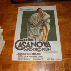 Cine: CARTEL DE EL CASANOVA DE FEDERICO FELLINI. Lote 44451459
