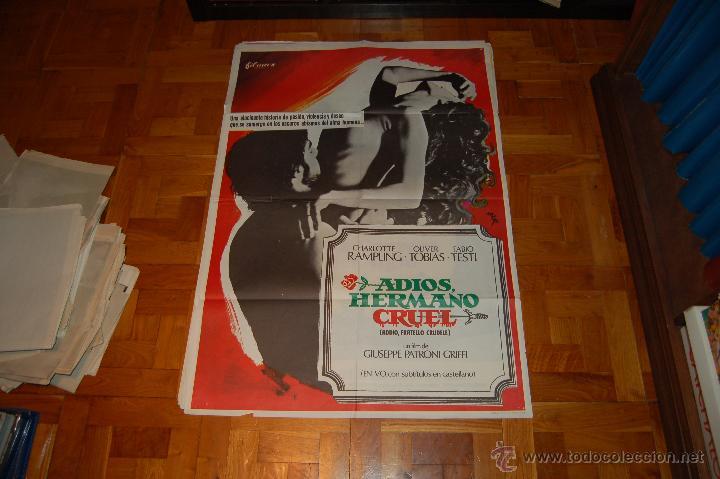 CARTEL DE ADIOS HERMANO CRUEL (Cine - Posters y Carteles - Suspense)