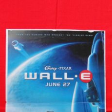 Cine: WALL-E, DISNEY PIXAR, POSTER EN INGLES, 42X30 CM. Lote 44455246