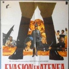 Cinéma: (12585)EVASIÓN EN ATENEA, CARTEL DE CINE ORIGINAL 70X100 APROX,CONSERVACION:VER FOTO. Lote 44461406