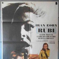 Cine: (12615)RUBÍ, CARTEL DE CINE ORIGINAL 70X100 APROX,CONSERVACION:VER FOTO . Lote 44461761