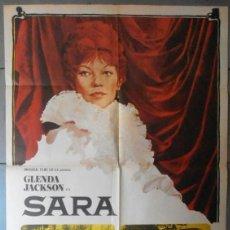 Cine: (12635)SARA, CARTEL DE CINE ORIGINAL 70X100 APROX,CONSERVACION:VER FOTO . Lote 44462107