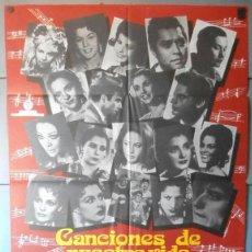 Cine: (12820)CANCIONES DE NUESTRA VIDA, CARTEL DE CINE ORIGINAL 70X100 APROX,CONSERVACION:VER FOTO . Lote 44467770