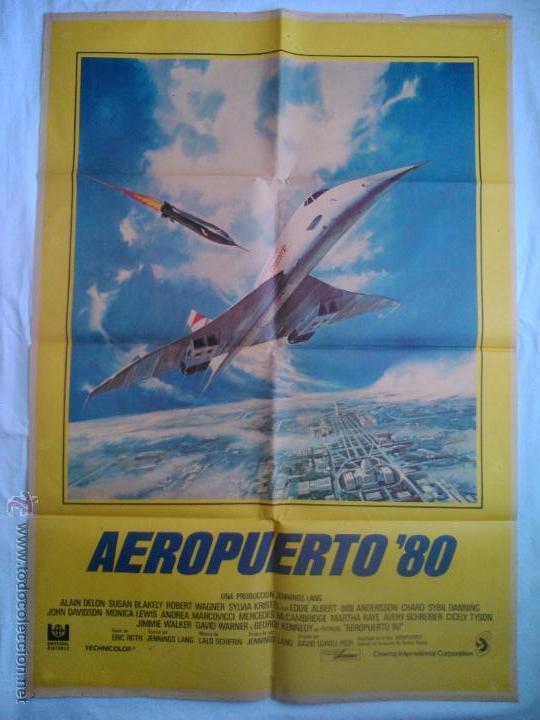 PÓSTER ORIGINAL AEROPUERTO 80 (Cine - Posters y Carteles - Suspense)