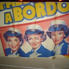 Cine: FALDAS A BORDO ESTHER WILLIAMS JOAN EVANS POSTER ORIGINAL 2 HOJAS 70X100 LITOGRAFIA YY(741). Lote 44686752