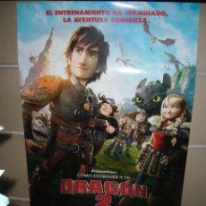 Cine: COMO ENTRENAR A TU DRAGON 2 POSTER ORIGINAL 70X100. Lote 44696562