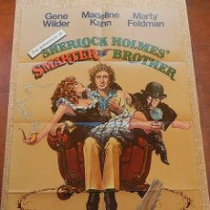 Cine: THE ADVENTURE OF SHERLOCK HOLMES´ SMARTER BROTHER PÓSTER ORIGINAL DE LA PELÍCULA, DOBLADO, 1975, USA. Lote 44707587