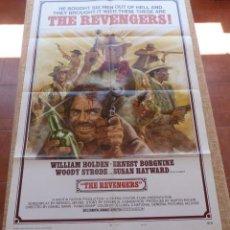 Cine: THE REVENGERS PÓSTER ORIGINAL DE LA PELÍCULA, ORIGINAL, DOBLADO, AÑO 1972, ESTILO A, HECHO EN U.S.A.. Lote 44710917
